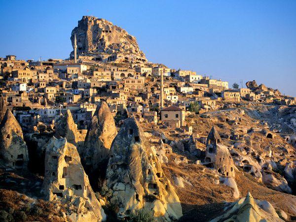 Cappadocia - Turkey Rock Formations - homes