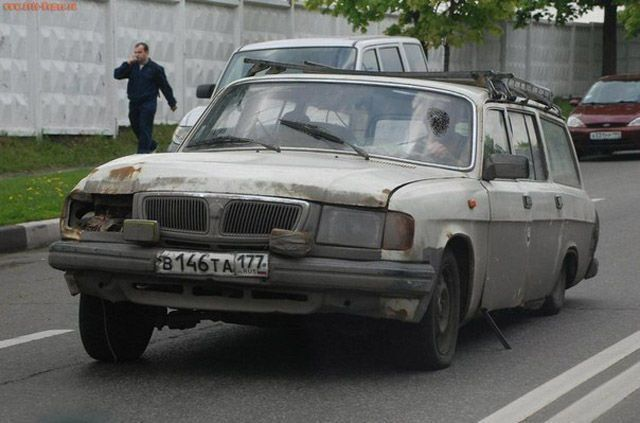 Car Weird Russian ruined