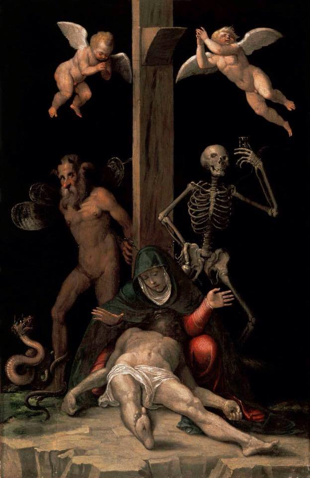 Dark And Macabre Jacopo Ligozzi, Allegory of the Redemption