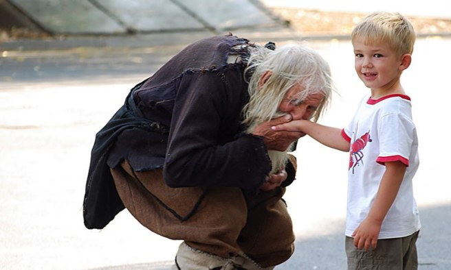 Dobri Dobrev - Bulgaria beggar with child