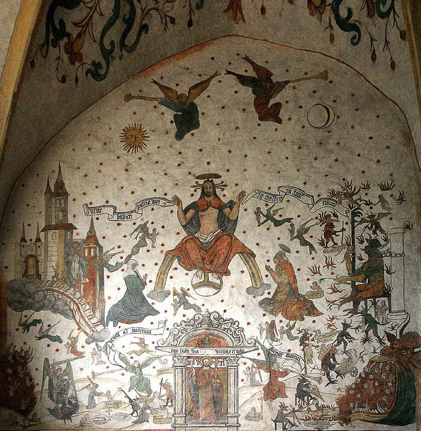 Doom Paintings Medieval - Sillegny - Eglise Saint Martin