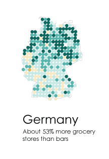 Interesting Graphs - Bars or Grocery Germany