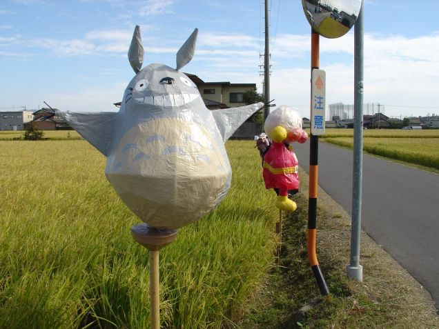 Japanese Scarecrow - Anpanman and Totoro