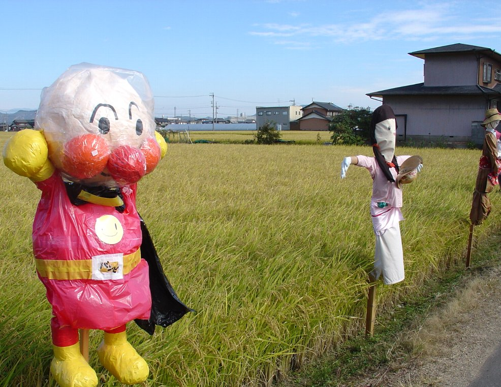 Japanese Scarecrow - big swollen head