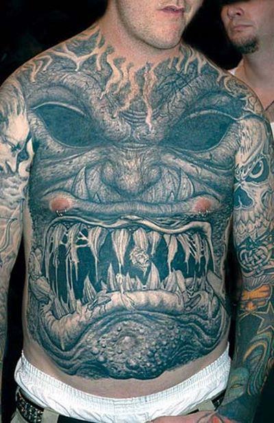 Monster Tattoos Best - huge face