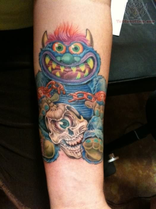 Monster Tattoos Best - muppet - Lazer Horse