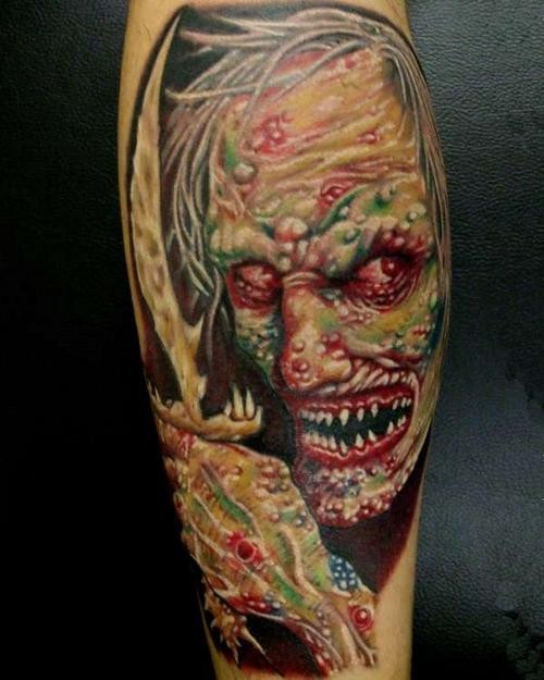 Monster Tattoos Best - scary face