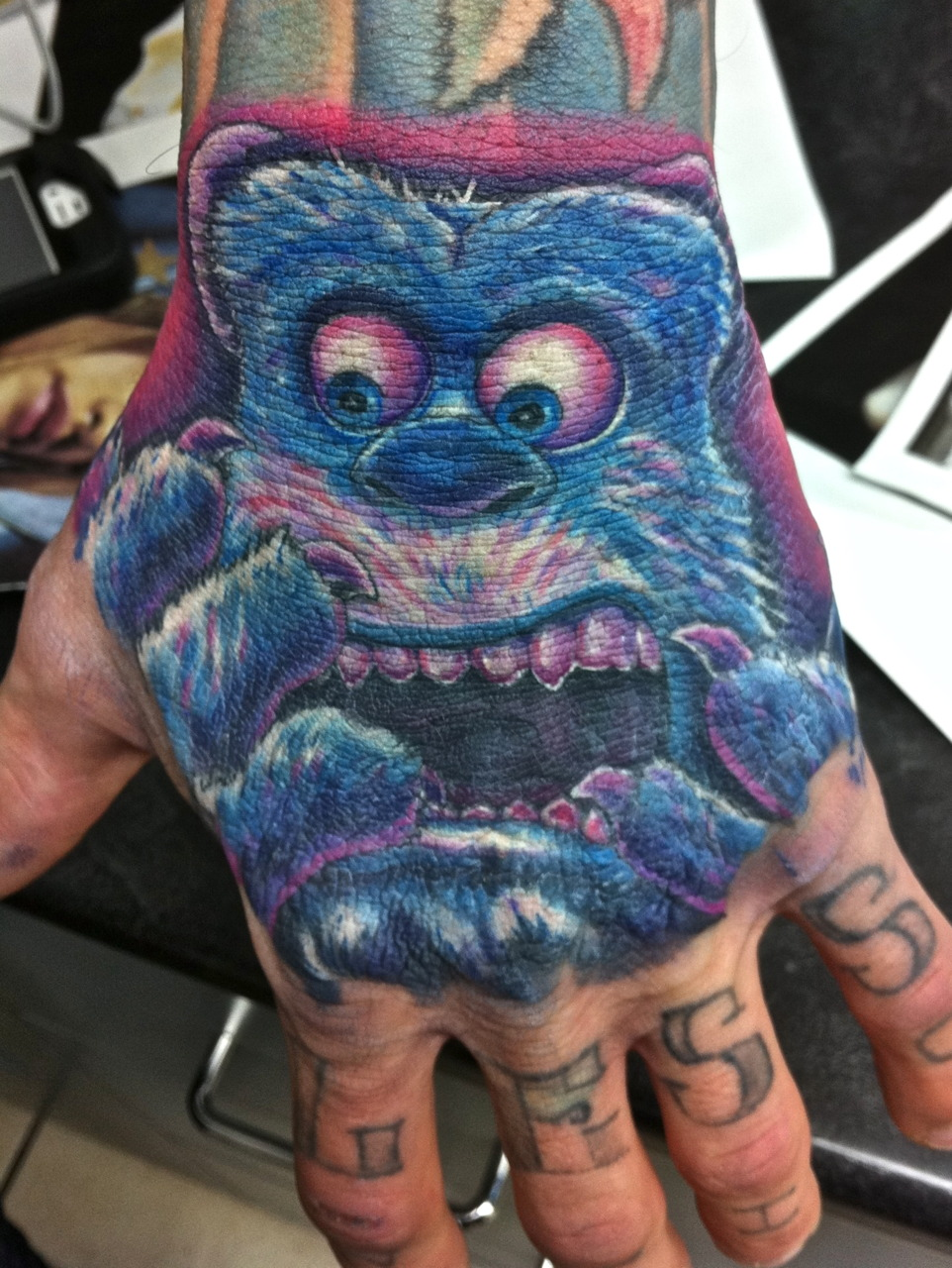Monster Tattoos - Ice Age Hand Tattoo