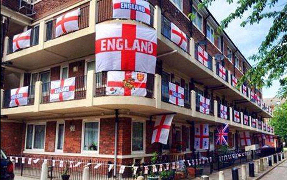 Estate waves the flag for England team