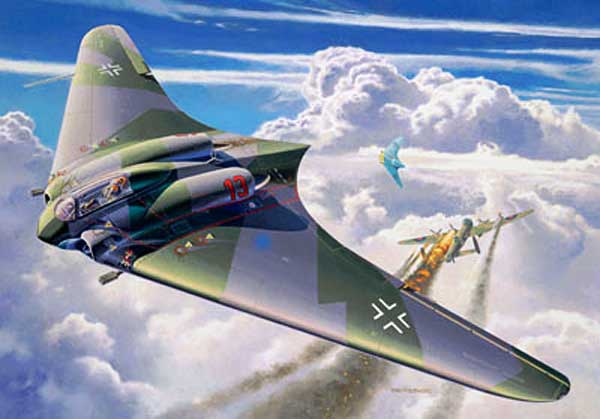 German Prototypes Horton Ho X (10) Flying Wing Jet-Powered Fighter (1944)