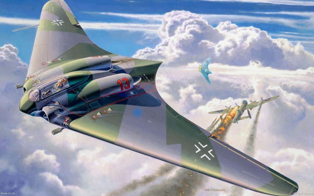 German Prototypes Horton Ho X (10) Flying Wing Jet-Powered Fighter 2
