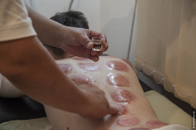 Kazakhstan Alternative medicine - drain booze