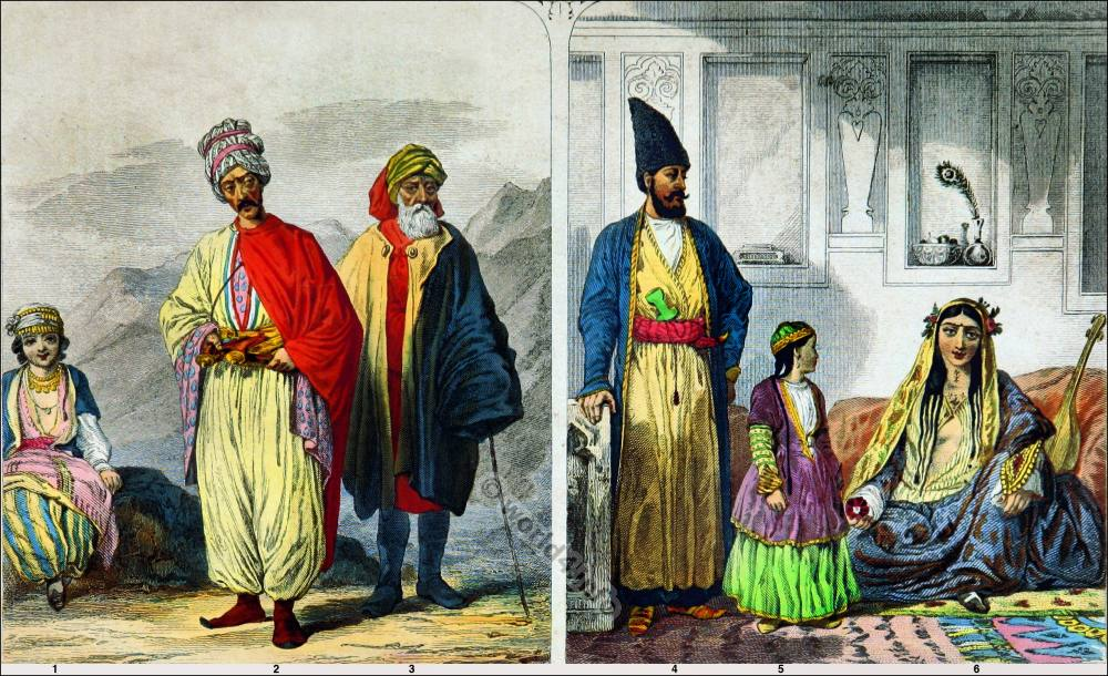 Medieval Persian Ottoman Clothes - Kurds and Persians