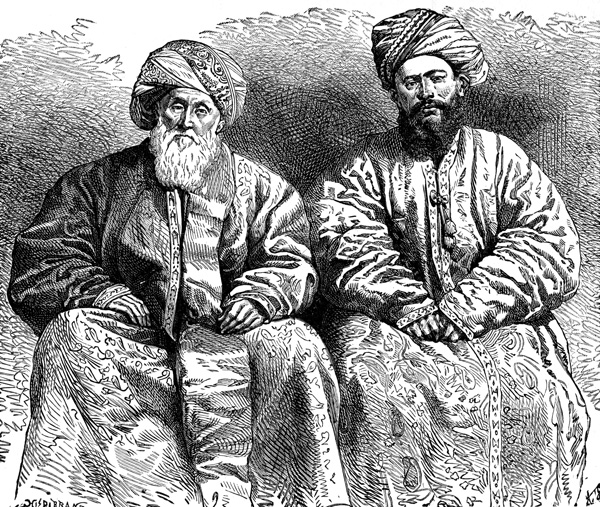 Medieval Persian Ottoman Clothes - Usbek and Tajik Men