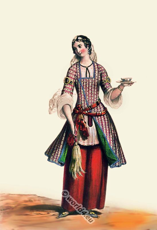 Medieval Persian Ottoman Clothes - persian Female 19th Century 2