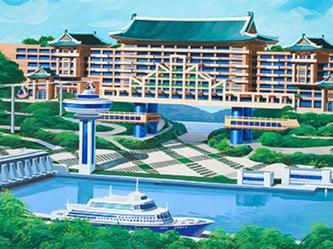 North Korea Futuristic Architecture - hotel