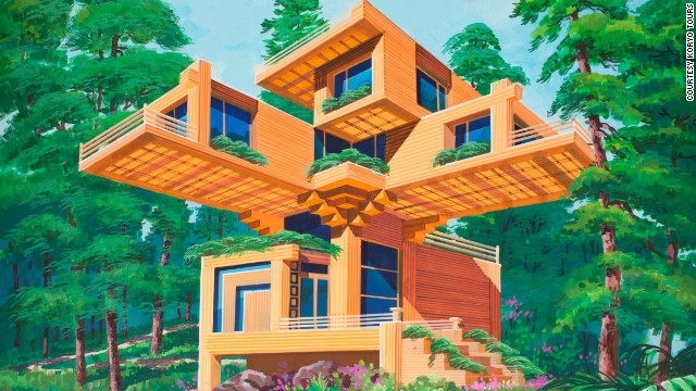 North Korea Futuristic Architecture Tree House