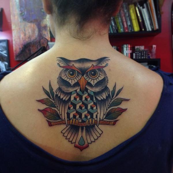 Owl Tattoo - Cubist