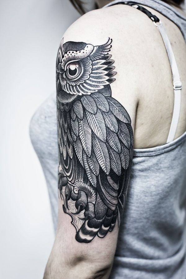 Owl Tattoo - Dark Ink