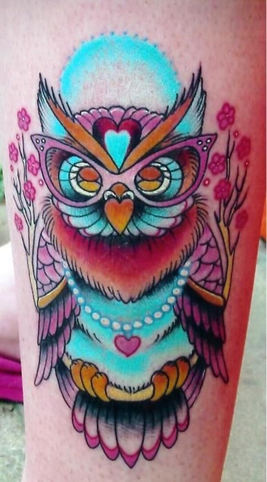 Owl Tattoo - Pink