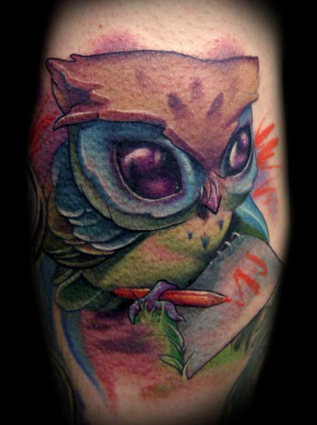 Owl Tattoo - Robot