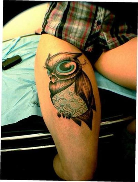 Owl Tattoo - Stylised