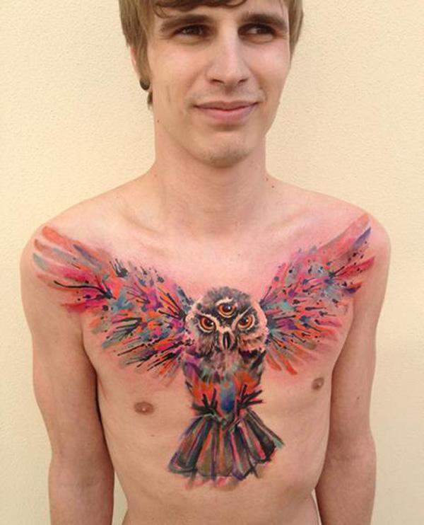 Owl Tattoo - Triple Eyed Owl