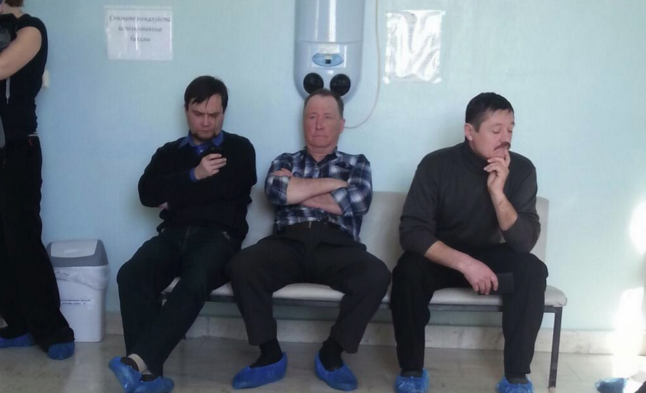 Russia With Love Mickey Mouse in waiting room