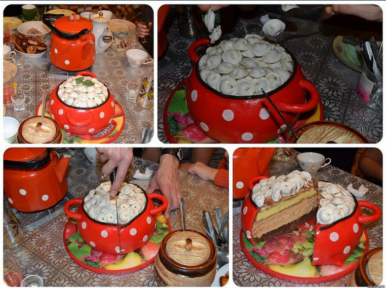 Russia With Love Pelmeni Cake