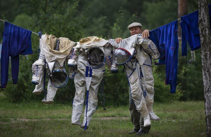 Russia With Love astronaut laundry day