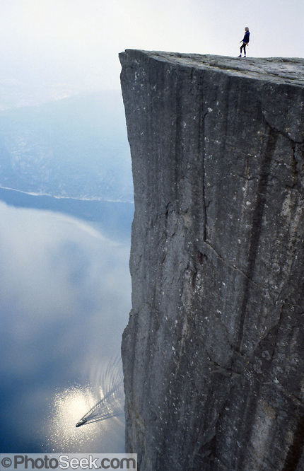The Pulpit (Prekestolen), Lysefjord, Forsand municipality, Rogaland county, Ryfylke traditional district, Norway, Europe