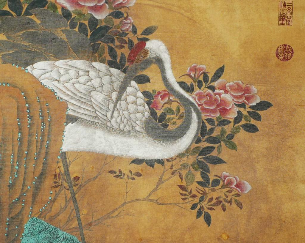 Emperor Huizong - Crane