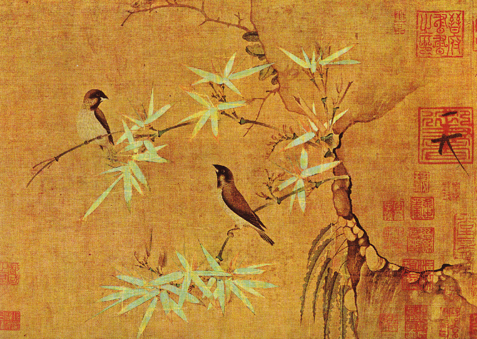 The paintings of emperor huizong of song lazer horse for Chinese mural art