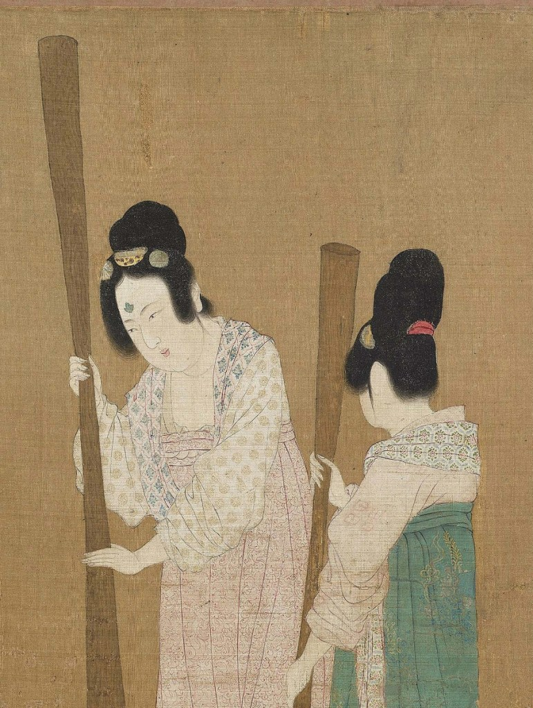 Emperor Huizong - Two women working