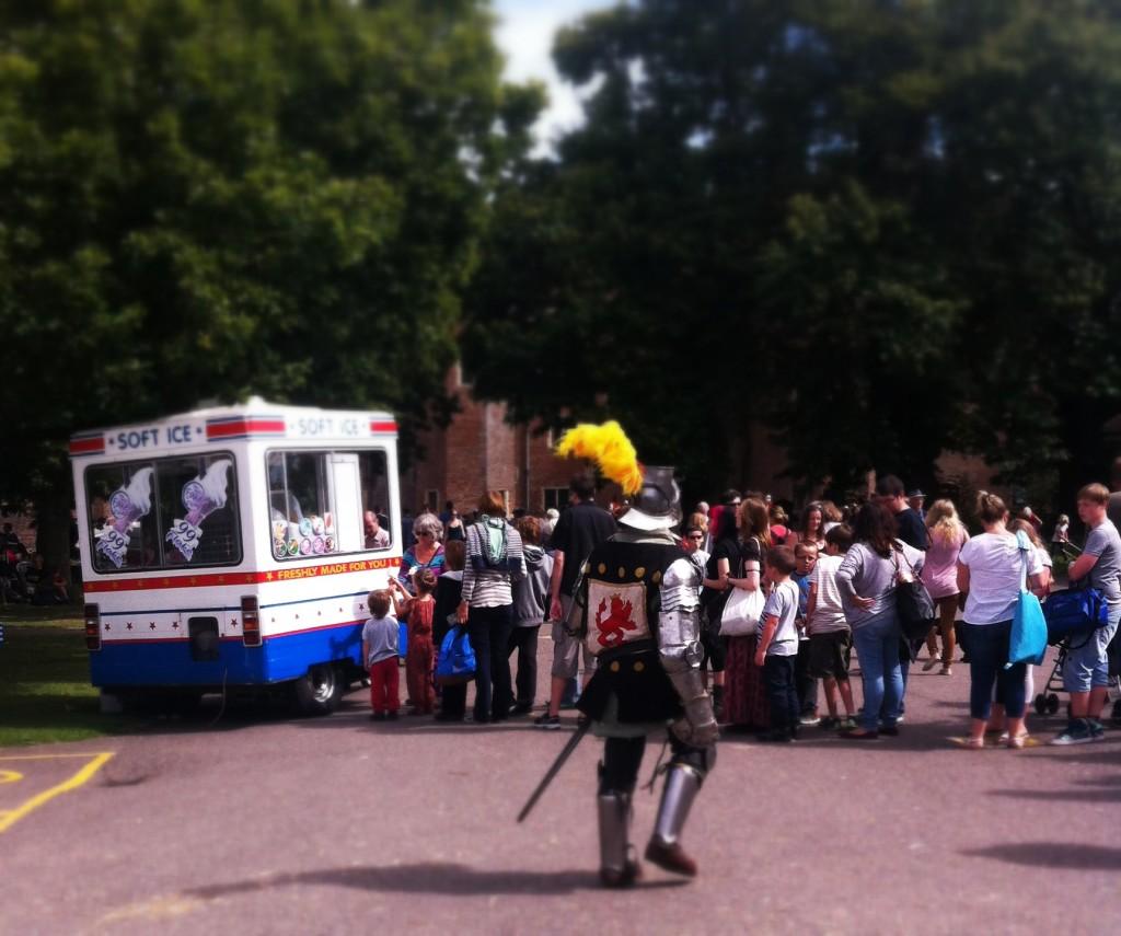 Herstmonceux Medieval Festival - ice cream van