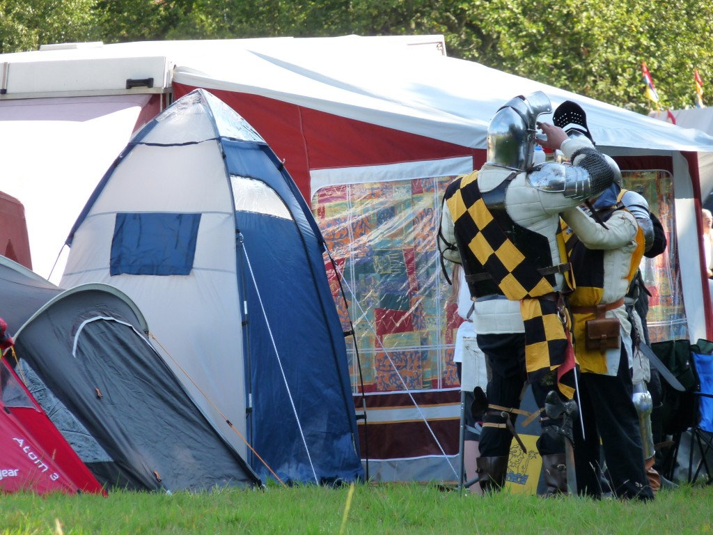 Herstmonceux Medieval Festival - knights by tents