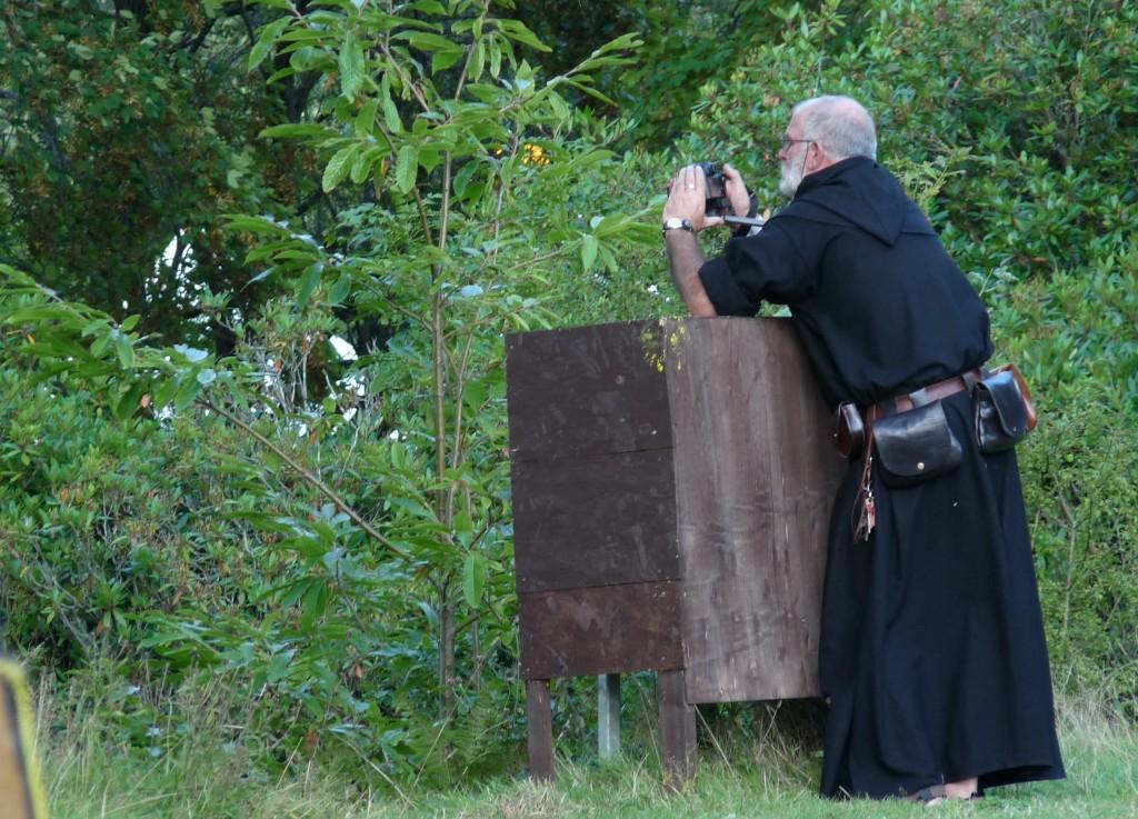 Herstmonceux Medieval Festival - monk cameras