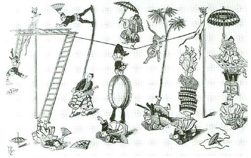 Richard Risley Carlisle - Circus display japan