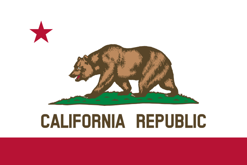 USA State Flags Best - California