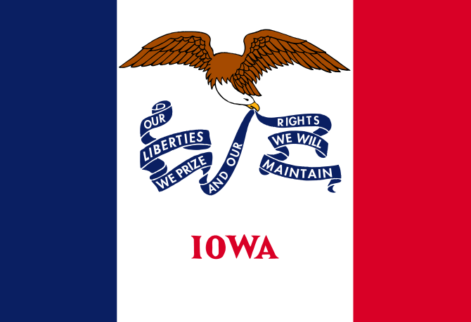 USA State Flags Best - Iowa