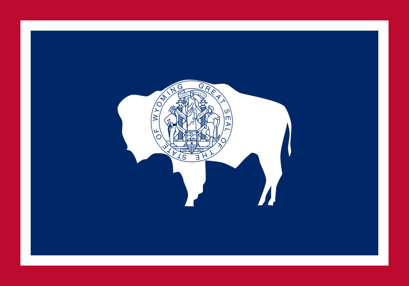 USA State Flags Best - Wyoming