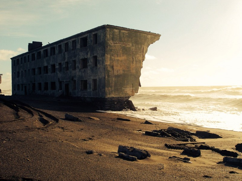 Abandoned Beach Homes - Kamchatka Russia