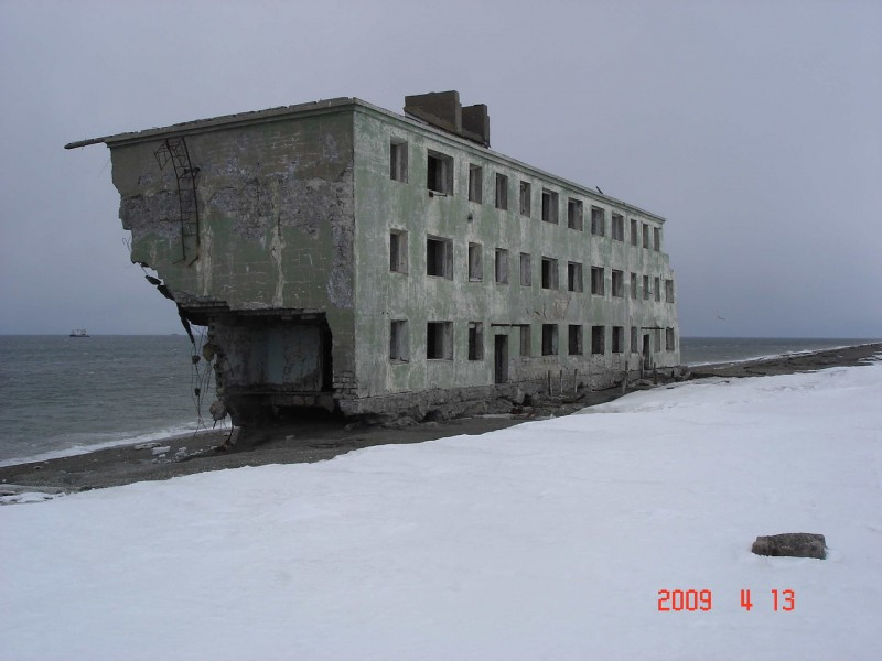 Abandoned Beach - complex in Kamchatka