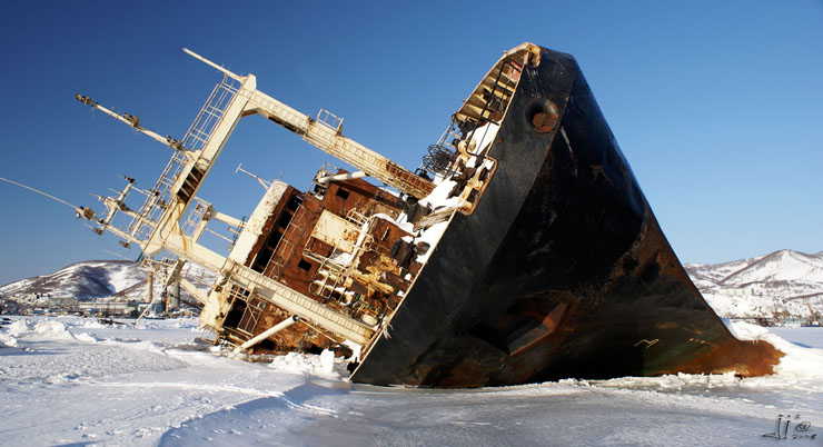 Abandoned Ship - Kamchatka, Russia
