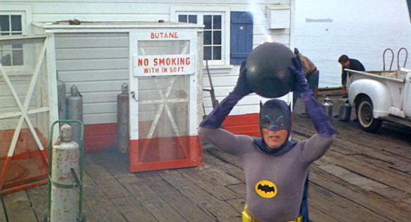Batman with a bomb