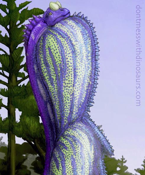 Brachiosaurus purple display sack