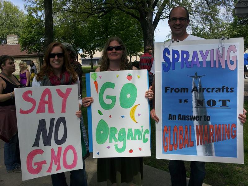 Chemtrail hoax - protestors