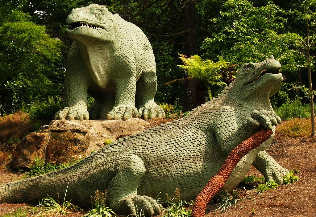 Crystal Palace Iguanodon incorrect