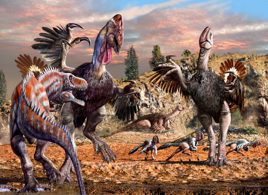 Gigantoraptor Nesting Grounds with Alectrosaurus