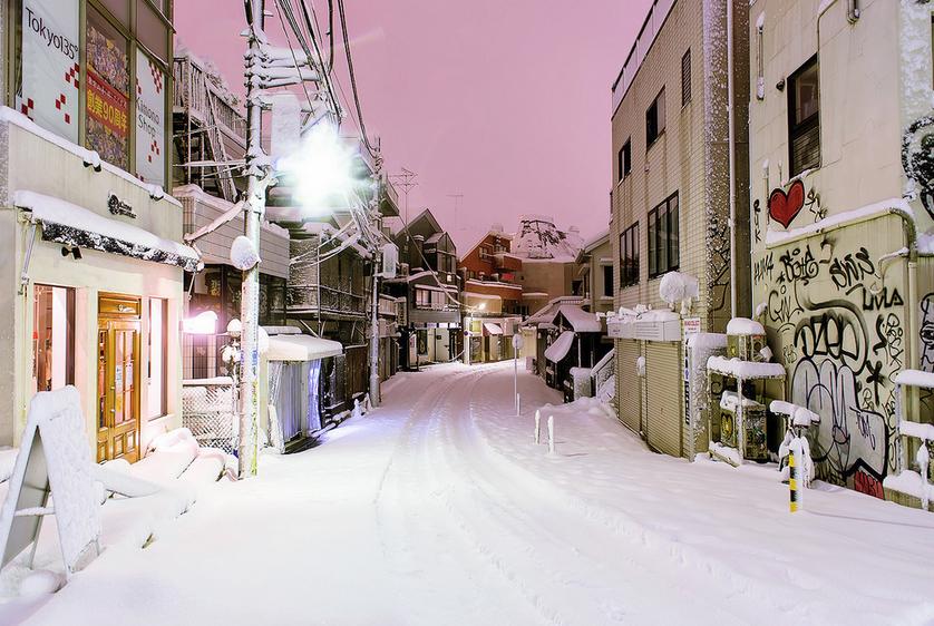 Graffiti in the snow - japan